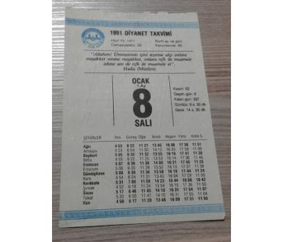8 OCAK 1991 SALI TAKVİM YAPRAĞI