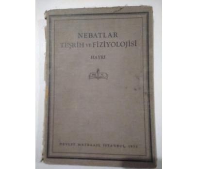 Nebatlar Teşrih ve Fiziyolojisi Hayri 1933