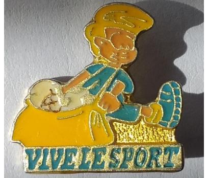 VİVE LE SPORT FUTBOLCU ROZETİ ORJİNAL