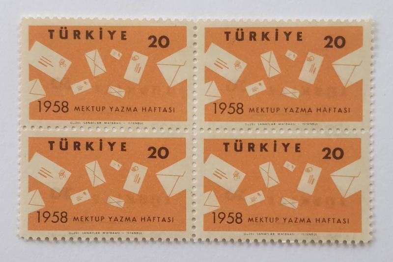 1958  MEKTUP YAZMA HAFTASI TAM SERİ DBL. (MNH) 1