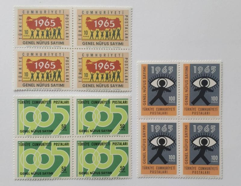 1965 GENEL NÜFUS SAYIMI DÖRTLÜ BL. (MNH) 1