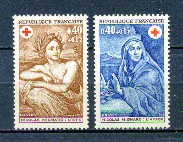 FRANSA ** 1969 CROIX ROUGE TAM SERİ (280315) 1