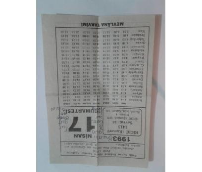 17 nisan 1993 Takvim Yaprağı - Cumartesi