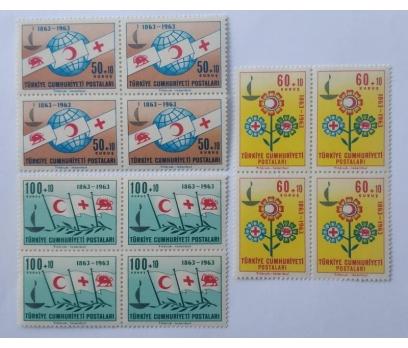 1963 KIZILHAÇIN 100. YILI DBL. TAM SERİ (MNH)