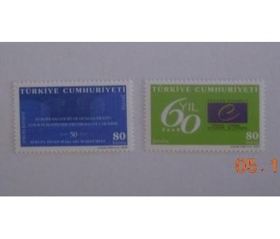 2009 Avrupa Konseyinin 60. yılı tam seri (MNH) 1 2x