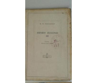 HENRY ESMOND 3.CİLT M.W.THACKERAY