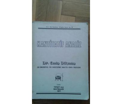 KANTİTATİF ANALİZ DR. EMİN DİKMAN