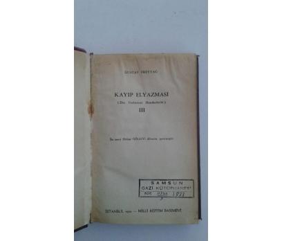 KAYIP ELYAZMASI III [3] GUSTAV FREYTAG