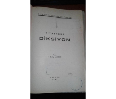 TİYATRODA DİKSİYON İ.GALİP ARCAN