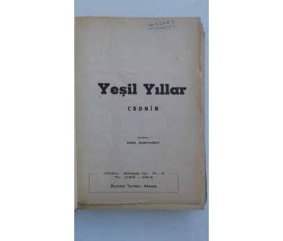 YEŞİL YILLAR  A.J. CRONIN