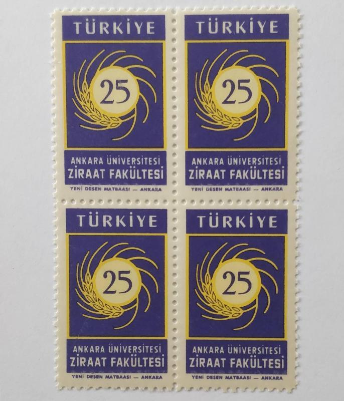 1959 ZİRAAT FAKÜLTESİ 25. YILI DBL. TAM SERİ (MNH) 1
