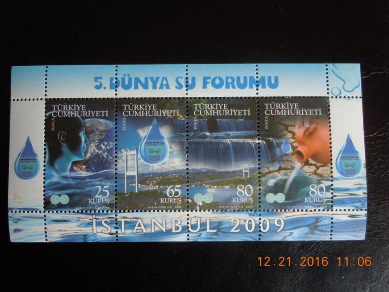 2009  5. DÜNYA SU FORUMU BLOK-75  (MNH) 1