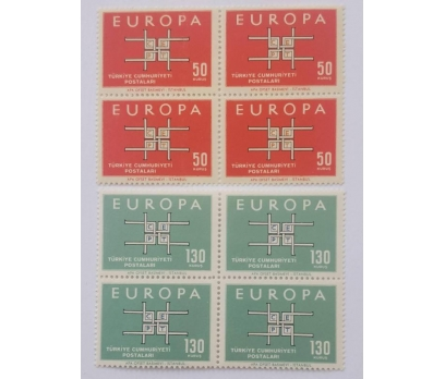 1963 EUROPA-CEPT  DÖRTLÜ TAM SERİ (MNH)