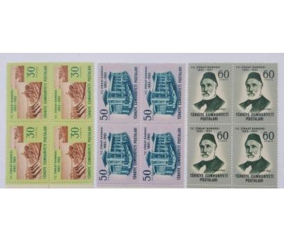 1963 ZİRAAT BANK. 100. YILI  DÖRTLÜ TAM SERİ (MNH)