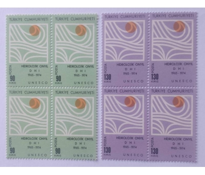 1967 HİDROLOJİK 10. YIL UNESCO DÖRTLÜ BL. (MNH)