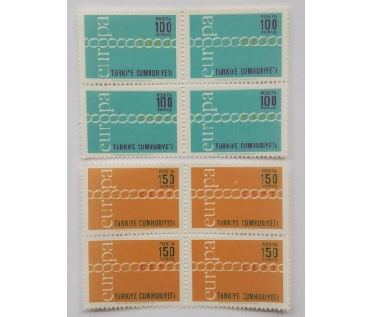 1971 EUROPA-CEPT  DÖRTLÜ BL.  (MNH)