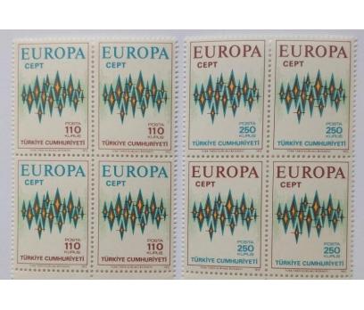 1972 EUROPA-CEPT  DÖRTLÜ BL.  (MNH)