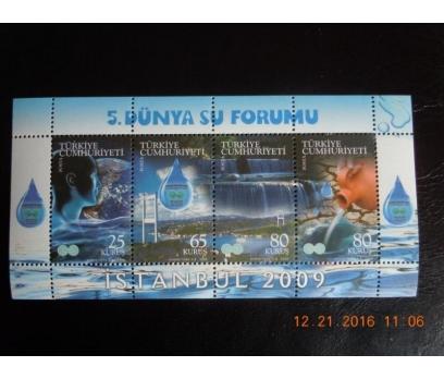 2009  5. DÜNYA SU FORUMU BLOK-75  (MNH) 1 2x