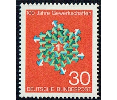 ALMANYA (BATI) 1968 DAMGASIZ SENDİKANIN 100. YILI