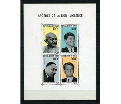 NİJER ** 1968 GANDHİ & M.L.KİNG VD. BLOK (051015)