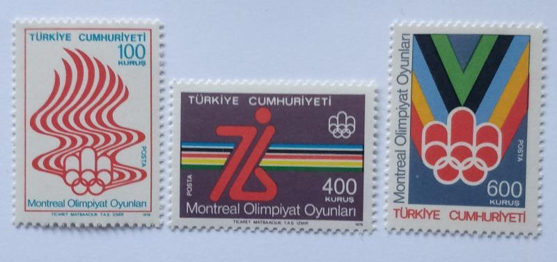 1976 MONTREAL OLİMPİYATLARI TAM SERİ  (MNH) 1