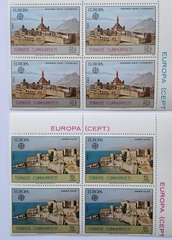 1978 EUROPA-CEPT DÖRTLÜ BL TAM SERİ  (MNH) 1