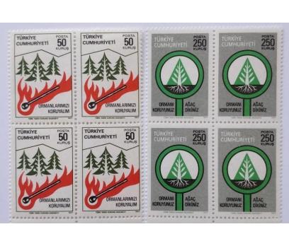 1977 ORMAN KONULU SÜREKLİ DÖRTLÜ TAM SERİ (MNH)