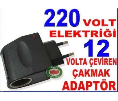 220 VOLT ELEKTRİĞİ 12 VOLTA ÇEVİREN ÇAKMAK ADAPTÖR