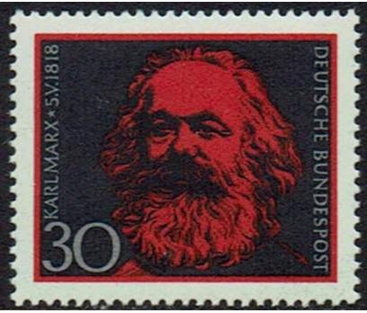 ALMANYA (BATI) 1968 DAMGASIZ KARL MAX SERİSİ