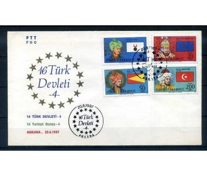 CUMH.FDC 1987 16 TÜRK DEVLETİ 4 SÜPER