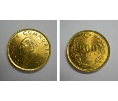 D&K-1991 PİRİNÇ 500 LİRA  ÇİL.