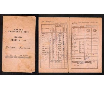 D&K-ANKARA KURTULUŞ LİSESİ 1963-1964 ÖĞRETİM YIL
