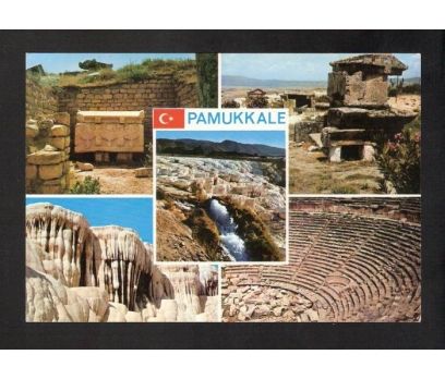 D&K--DENİZLİ PAMUKKALE PARÇALI KARTPOSTAL