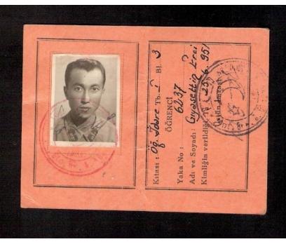 D&K-ESKİ ASKERİ ÖĞRENCİ KİMLİĞİ 1951 YILI