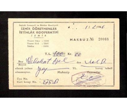 D&K-İZMİR ÖĞRETMENLER İSTİHLAK KOOPERATİFİ 1965
