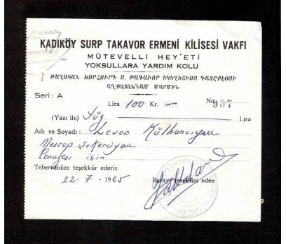 D&K-KADIKÖY SURP TAKAVOR ERMENİ KİLİSESİ VAKFI