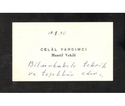 D&K-KARTVİZİT-MAARİF VEKİLİ, CELAL YARDIMCI