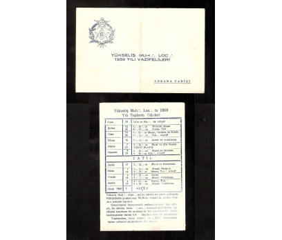 D&K-MASON-MASONİK EVRAK TOPLANTI GÜNLERİ 1959