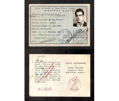 D&K-ÖĞRENCİ HÜVİYET KARTI 1962 YILI