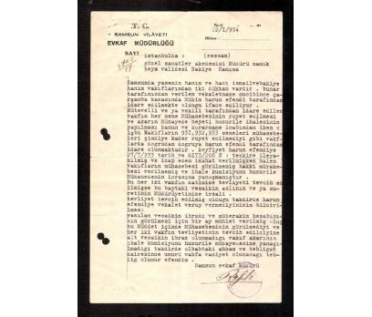 D&K-SAMSUN VİLAYET EVKAF MÜDÜRLÜĞÜ 1934 YILI