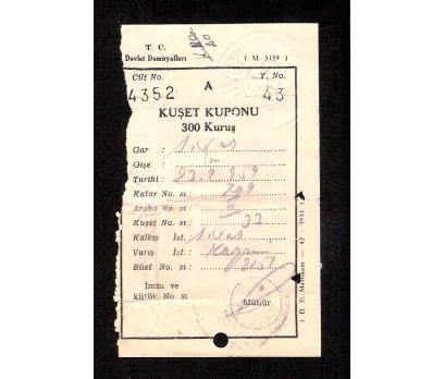D&K-TCDD TREN BİLETİ 1959 YILI