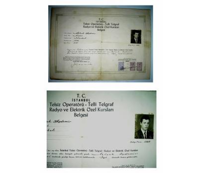 D&K--TELSİZ OPERATÖR BELGESİ 1965-İSTANBUL