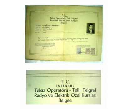 D&K--TELSİZ OPERATÖRÜ,RADYO VE ELEKTRİK BELGESİ