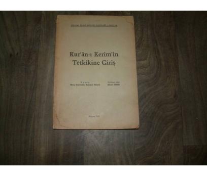 KURANI KERİMİN TETKİKİNE GİRİŞ MİRZA BEŞİR- 1960 1 2x