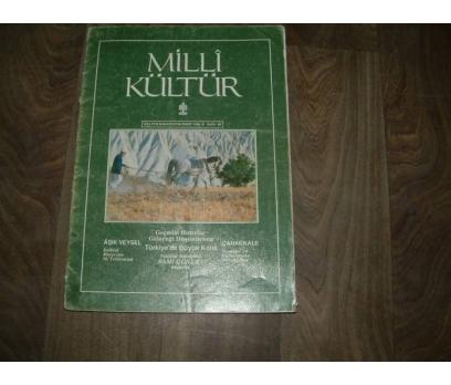 MİLLİ KÜLTÜR  S. 82 - 1991 AŞIK VEYSEL ÇANAKKALE