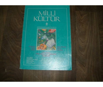 MİLLİ KÜLTÜR S. 85 - 1991 FİKİR VE SANAT VE EDEB