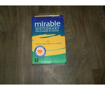 MİRABLE DICTIONARY WITH TURKİSH EQUIVALENTS IN