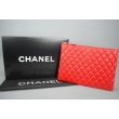 CHANEL O'CASE CLUTCH BORDO